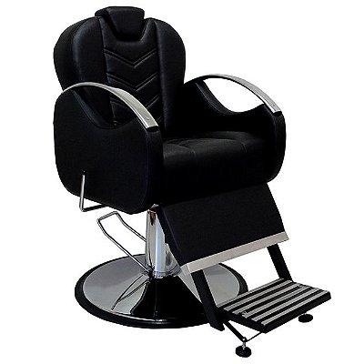 Cadeira De Barbeiro Alfa - Cálice Cromado