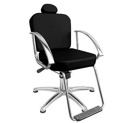 Cadeira De Barbeiro Dallas - Encosto E Pentapé