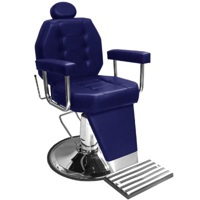 Cadeira De Barbeiro Línea - Cálice Cromado Braço Estofado