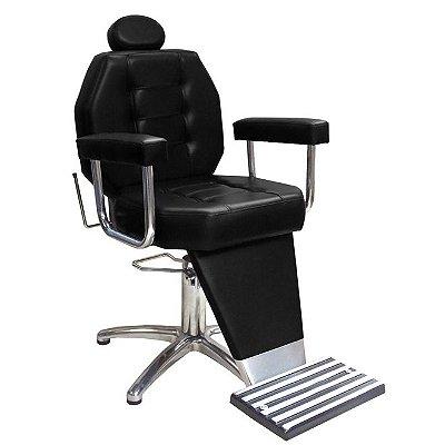 Cadeira De Barbeiro Línea - Pentapé E Braço Estofado
