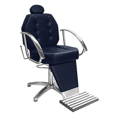 Cadeira De Barbeiro Línea - Pentapé E Braço Cromado