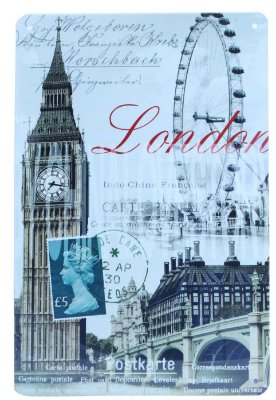"Placa Decorativa ""London"""