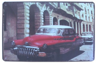 "Placa Decorativa ""Carro Antigo"""