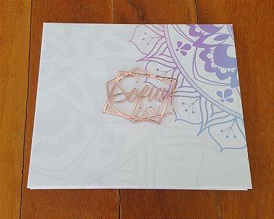 Convite Cartonada 15 anos (50 unidades) Mandala