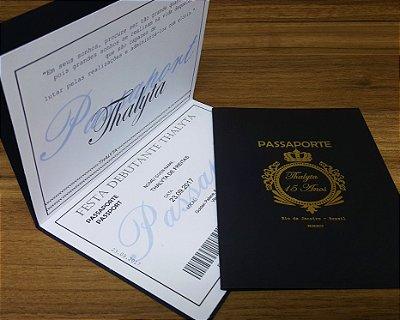 Convite 15 Anos Passaporte
