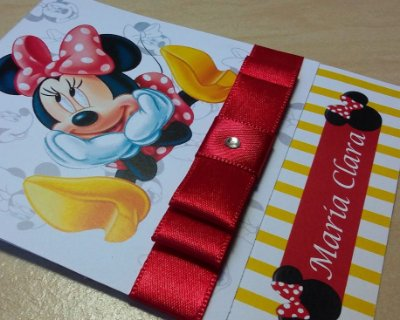 Convite Infantil Minnie
