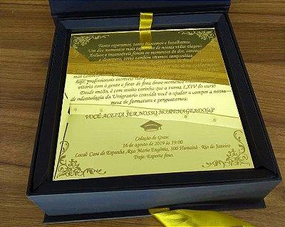 Convite Formatura Box Espelhado