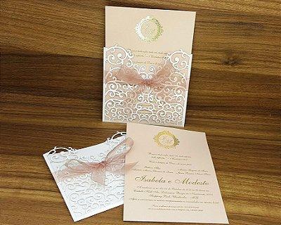 Convite Casamento Rendado