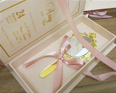 Convite Box 15 anos Personalizado espelho