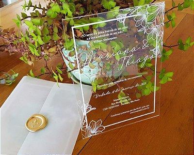 Convite de Casamento Acrilico