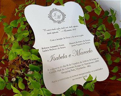 Convite Acrilico Prata