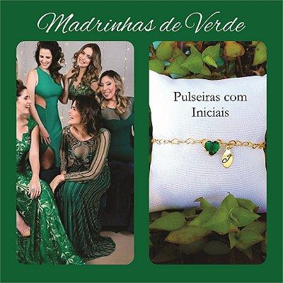 Pulseira Madrinha Verde Esmeralda