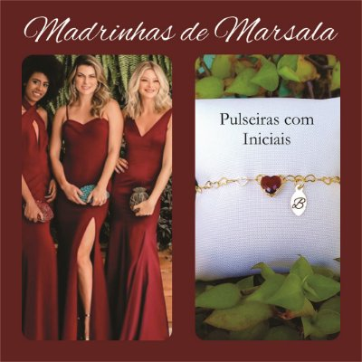 Pulseira Madrinha Marsala
