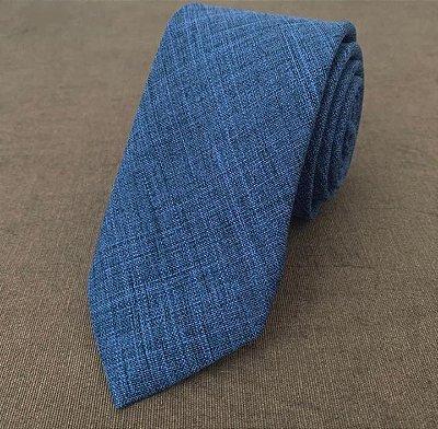 Gravata Padrinhos Azul Serenity
