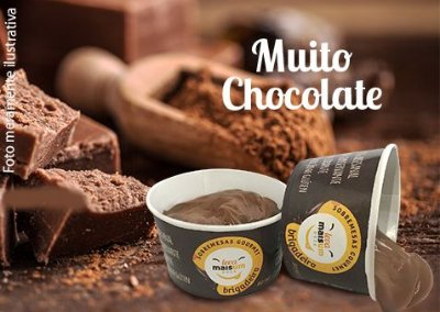 Brigadeiro gourmet meio amargo com chocolate belga