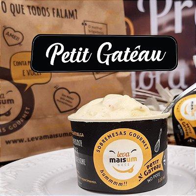 Petit Gâteau de chocolate belga DARK 70% cacau e sorvete de creme