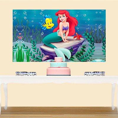Painel de Festa Infantil Princesa Ariel