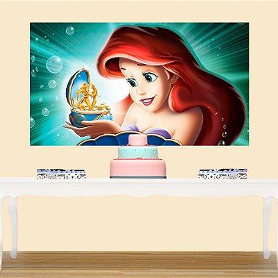 Painel de Festa Infantil Princesa Ariel 2
