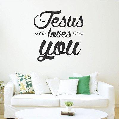 Adesivo de Parede Jesus loves you
