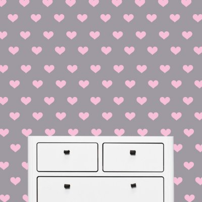 Adesivo de Parede Coração Rosa Claro 120un