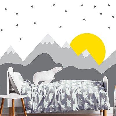 Adesivo de Parede Infantil Montanhas