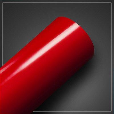 Adesivo Vermelho Fogo Brilhante - Larg. 60cm - Venda por mt
