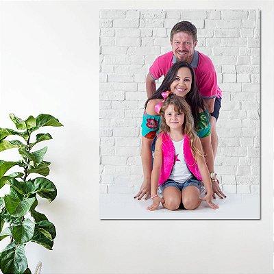 Quadro Personalizado em Tela Canvas 60x80cm - família - casal - bebê
