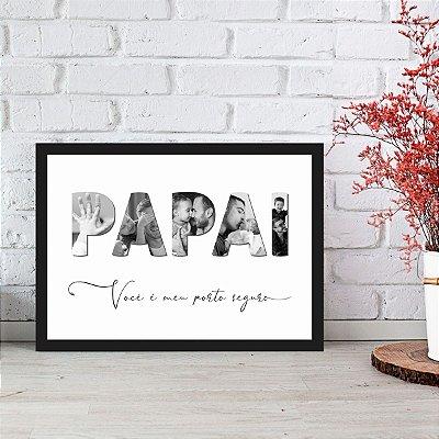 Quadro Decorativo Dia dos Pais 33 x 24cm