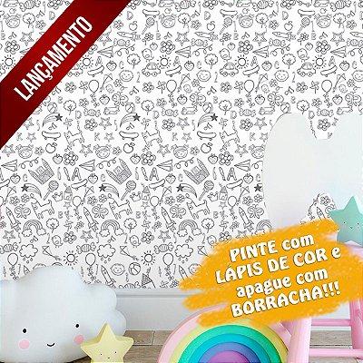 Adesivo de Parede Infantil para Colorir