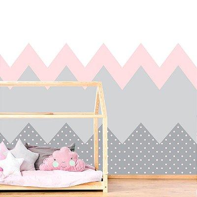 Adesivo de Parede Infantil Montanha Rosa