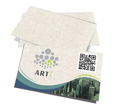 Cartão de Visita Reciclato 250gr sem Verniz