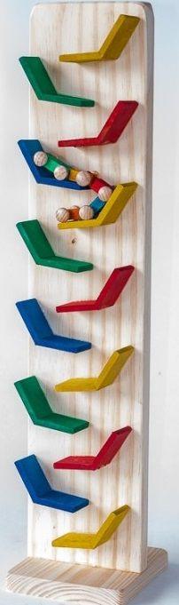 Zig-Zag com carrinho-madeira-multicolorido-bohney