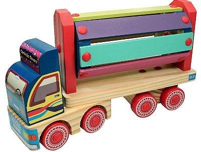Caminhão Sonoro de madeira