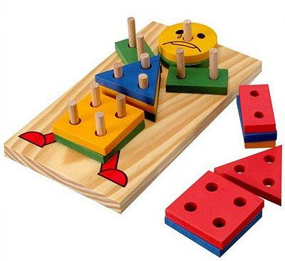 Boneco Geométrico de madeira