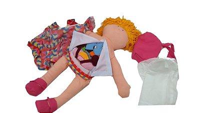 Boneca Lena com órgãos internos