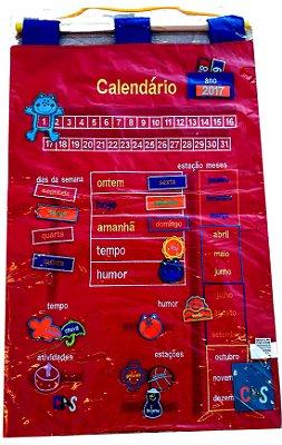 Calendário Português Bordado