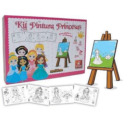 Kit Pintura Princesas Baby-madeira-brincadeira de criança
