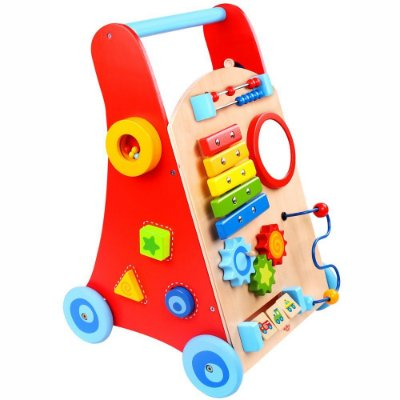 Andador Baby - Carrinho Multifunção de Madeira- Tooky Toy