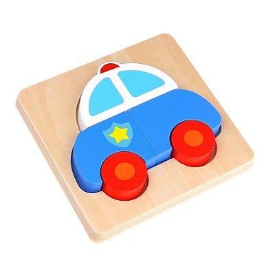 Quebra cabeça- Tabuleiro Polícia- Madeira- Tooky Toy