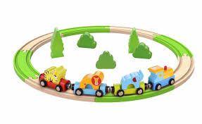 Trem de madeira magnético