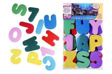 Letras e Números Brinc Banho