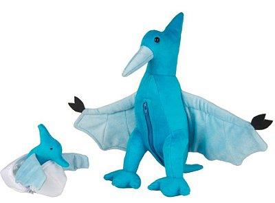 Dinossauro – Pelúcia – Pterodáctila Grávida de 1 Filhote - CAS