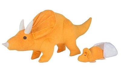 Dinossauro – Pelúcia – Tricerátops Grávida de 1 Filhote - CAS