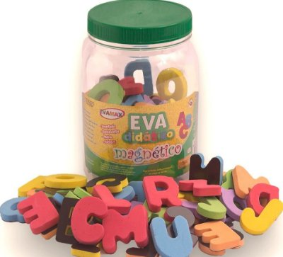 Letras – Alfabeto - Letras Magnéticas em EVA - EVAMAX