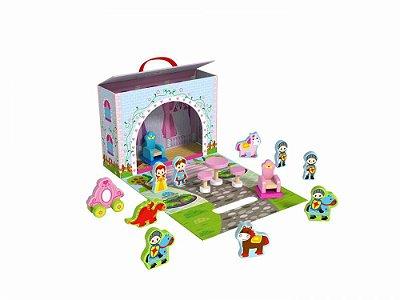 Caixa Divertida - Castelo -Madeira-Tooky Toy