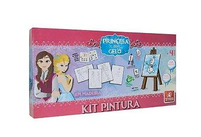 Kit Pintura - Princesa do Gelo - Madeira- Brincadeira de Criança