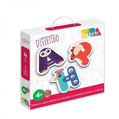 Aprender Alfabeto – Alfabeto Divertido – Brinquedo de Madeira – Babebi