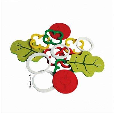 Comidinha – Kit Salada – Brinquedo de madeira – New Art