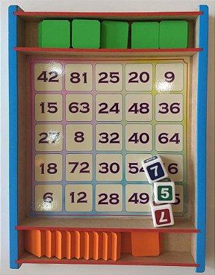 Multiplicação - Jogo Matemática - Jogo 4 em Fila – Guigui