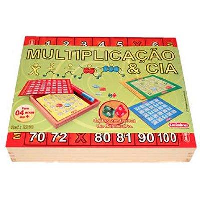Soma – Multiplicação - Subtração - Jogo Matemática – Multiplicação e Cia – Brinquedo em Madeira – Carimbras